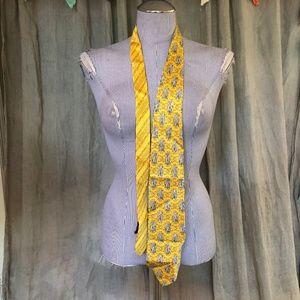 Gianni Versace Original gold yellow silk tie vinta
